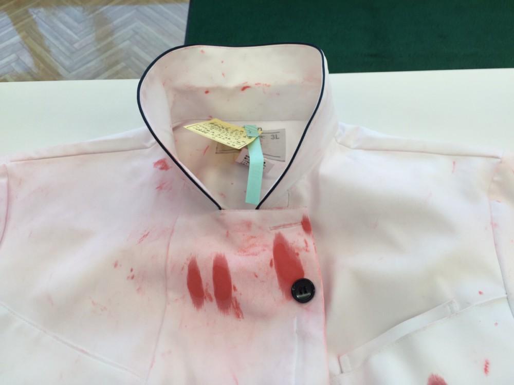 シャチハタ印と一緒に洗ってしまったシャツ